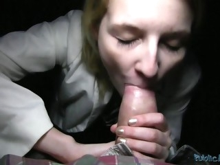 lovely blondie likes taste of male stick