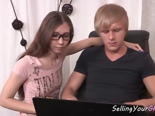 skinny russian teen makes bf cuckold