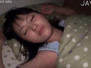 Sleeping girl is so cute