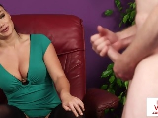 CFNM milf instructing naked submissive